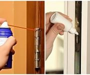 How to lubricate the hinges of a wooden or plastic door