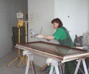 Painting wooden doors