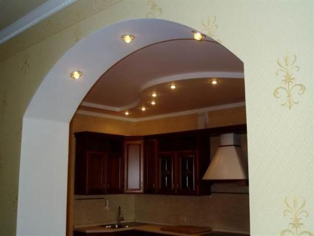 The arch in the kitchen in modern style - Arch in Kitchen: Types and Installation