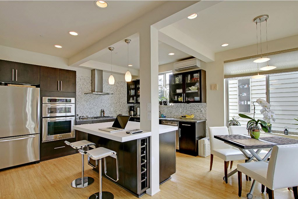 The Arch In Kitchen With A Breakfast Bar