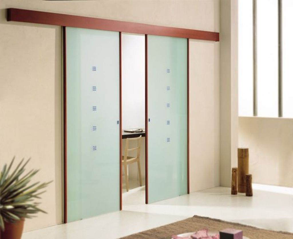 The glass sliding doors for Wooden sliding doors