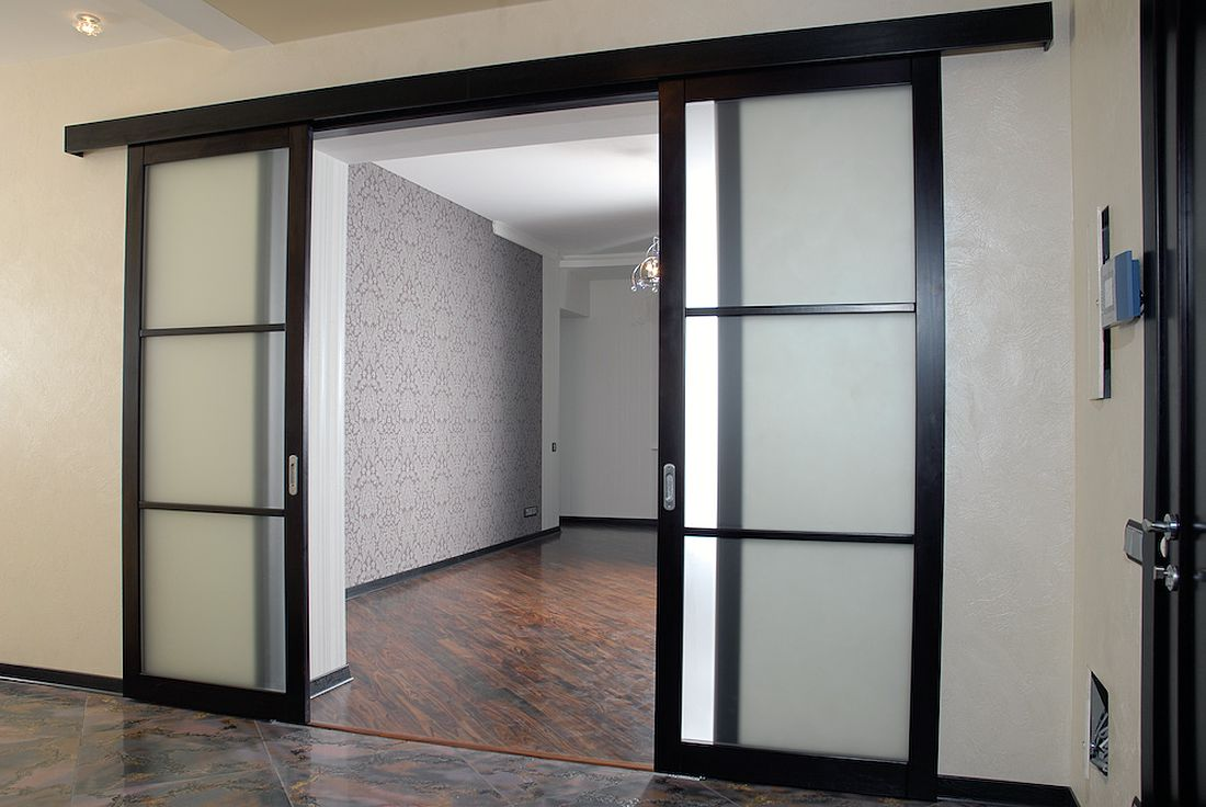 Doors type the movement of the door leaves is by means for Indoor sliding doors