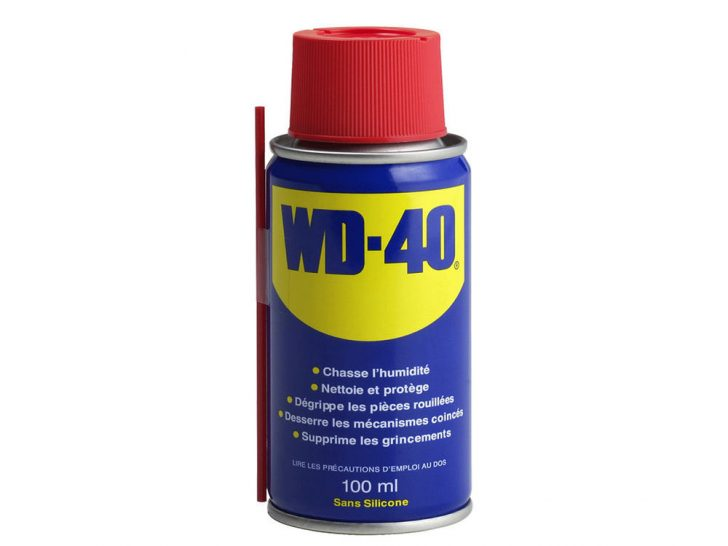WD-40 for creaking door lubrication