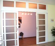 White sliding interior doors