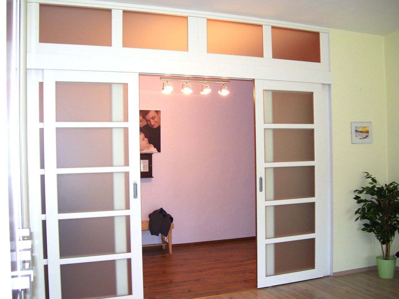 White sliding interior doors for Interior sliding glass doors