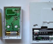 Battery in the wireless doorbell