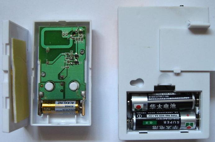 Battery in the wireless doorbell