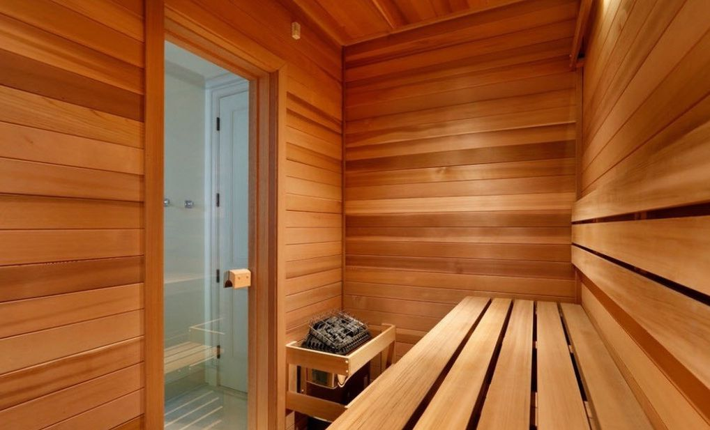 Glass door for sauna room