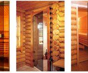 Glass doors for sauna