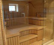 Glass sauna