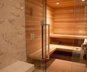 Glass sauna photo