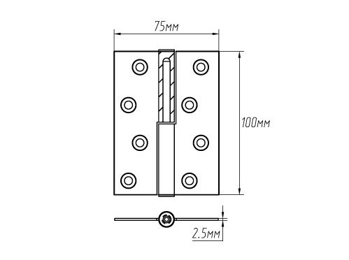 Hingle size - What hinges it is better to place on the interior doors