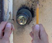 Lubricate a Lock Using Graphite From a Pencil 180x150 - How to lubricate entry doors and what to use