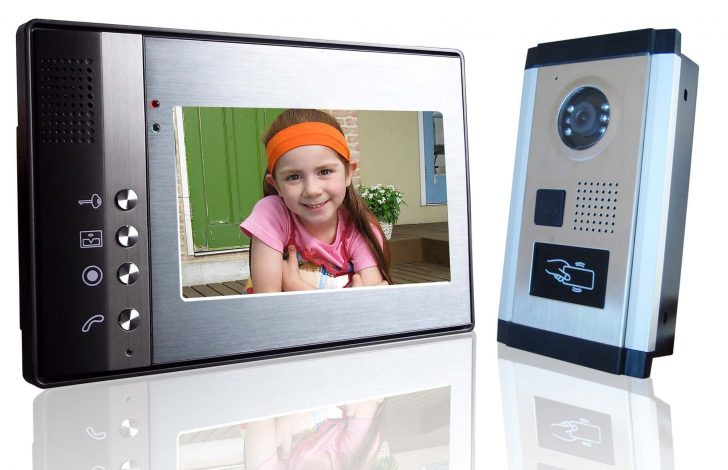 Modern Video door phone 728x470 - Video call for a front door in an apartment. Video door phone.