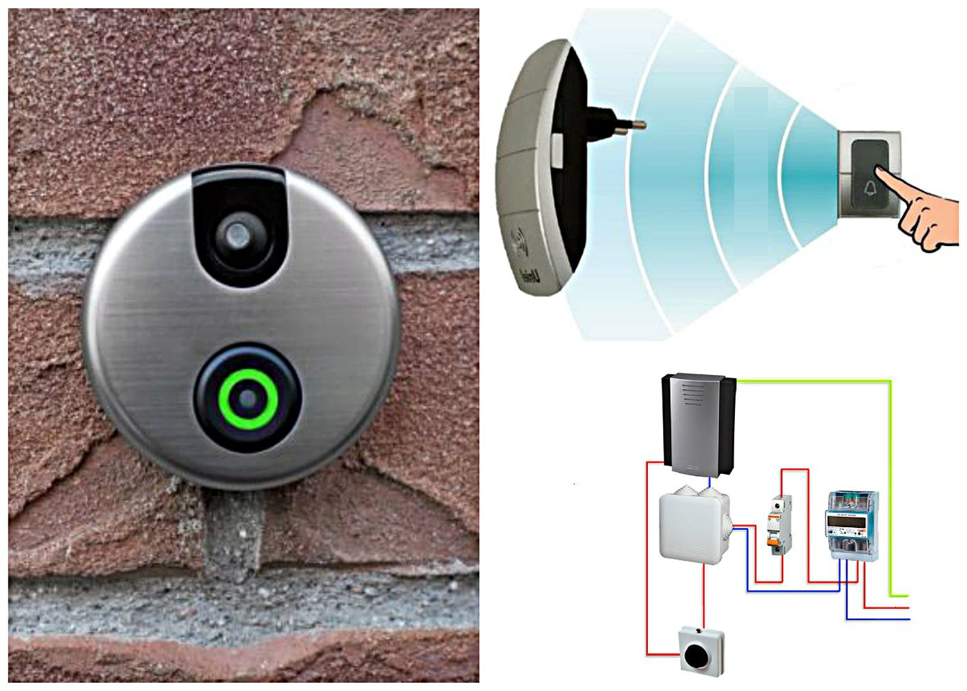 Principle of operation of the wireless door bell