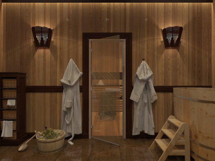 Sauna glass door