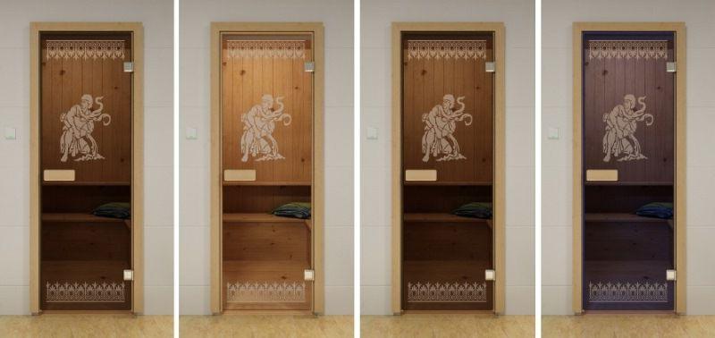 Styles glass door for saunas