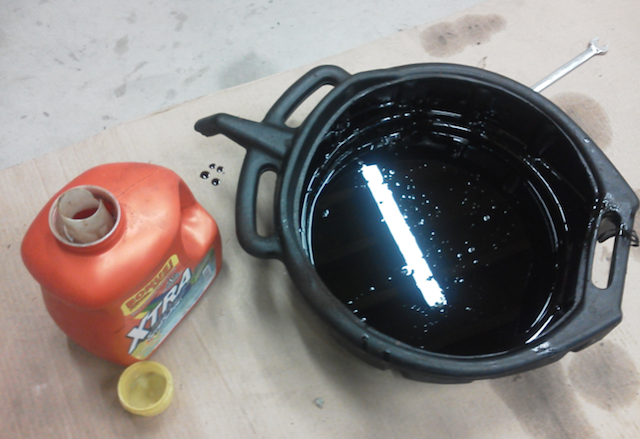 Using of engine oil