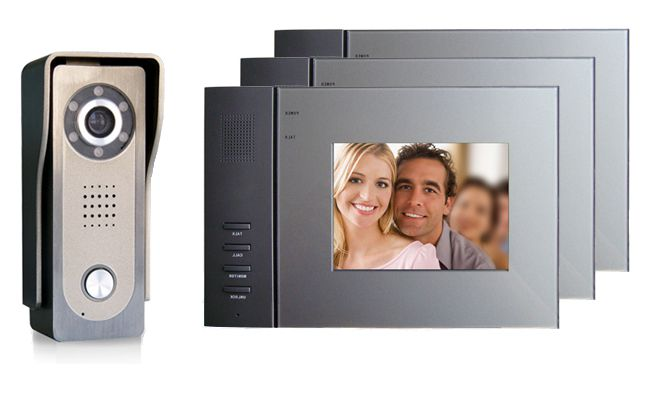 Video door entry system - Video call for a front door in an apartment. Video door phone.