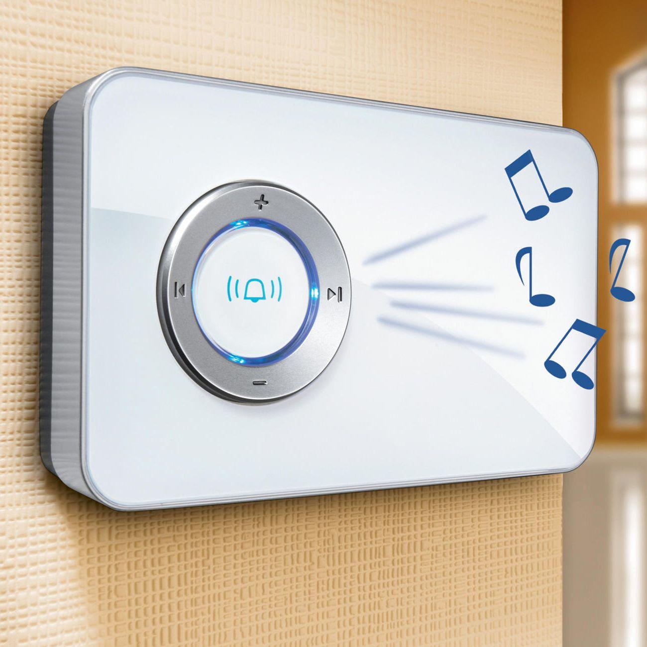Wireless doorbell on the door