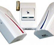 Wireless doorbell with batteries