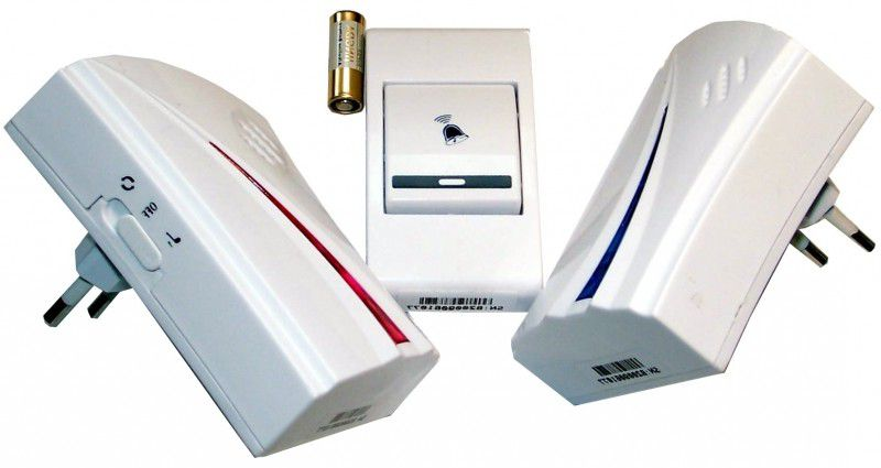 Wireless doorbell with batteries