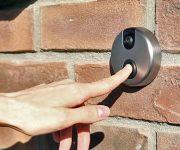 Wireless doorbell with video camera
