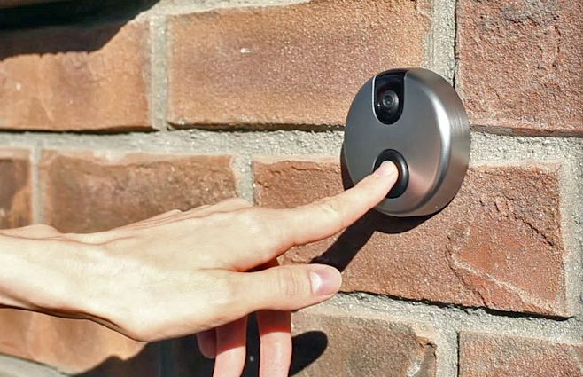 Wireless doorbell with video camera