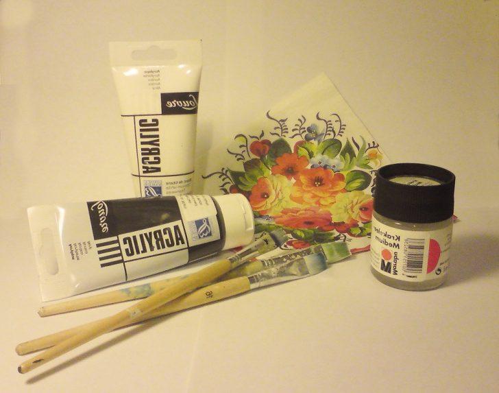 Acrylic paint for decoupage door