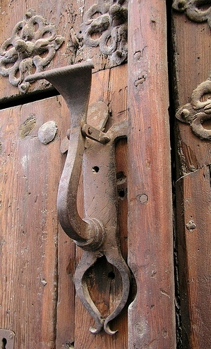 Antique door and door handle