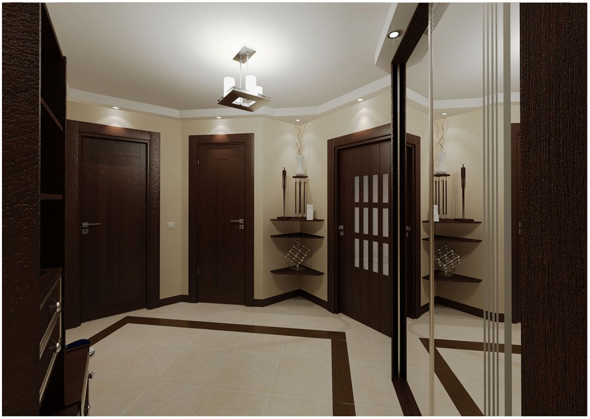 Dark doors in a bright room & doors in a bright room