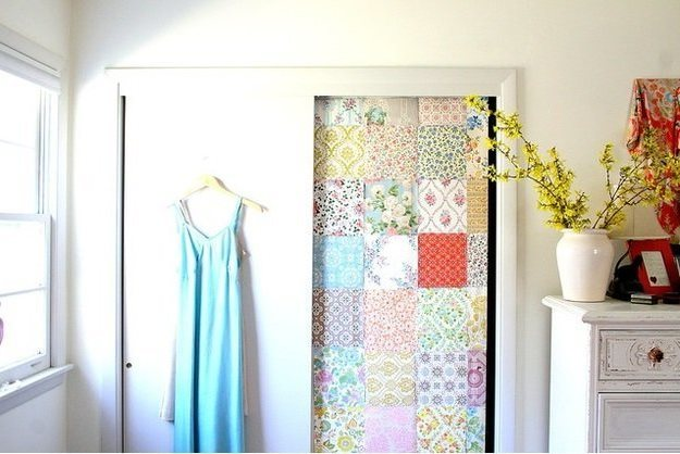 Decorating doors patchwork - How to decorate a door by your own forces