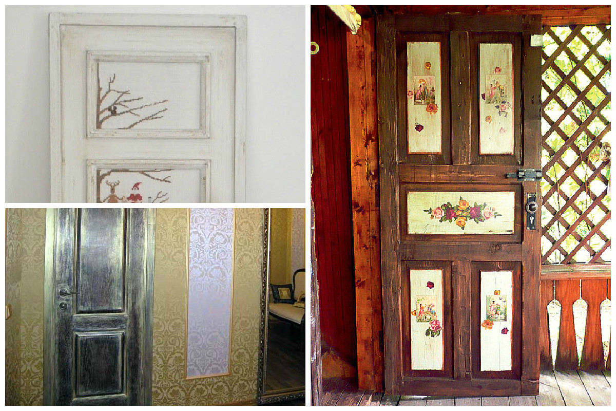 Decoupage of doors