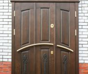 External oak door