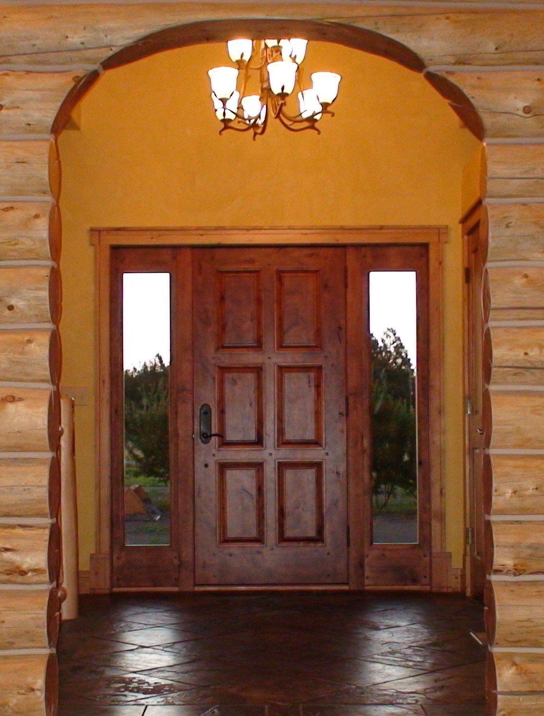 External solid wood door