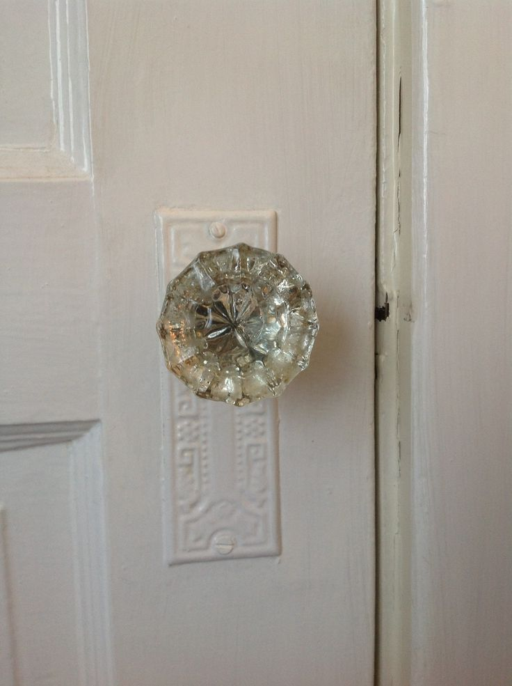 Glass door knobs vintage
