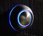Glowing doorbell button