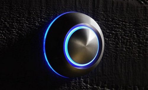 Glowing doorbell button