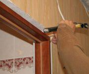 Installation of the door frame