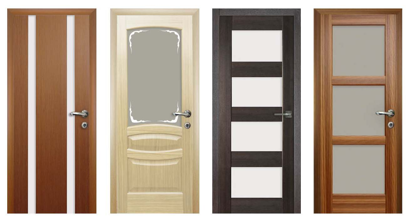 Interior doors of various styles before installation.