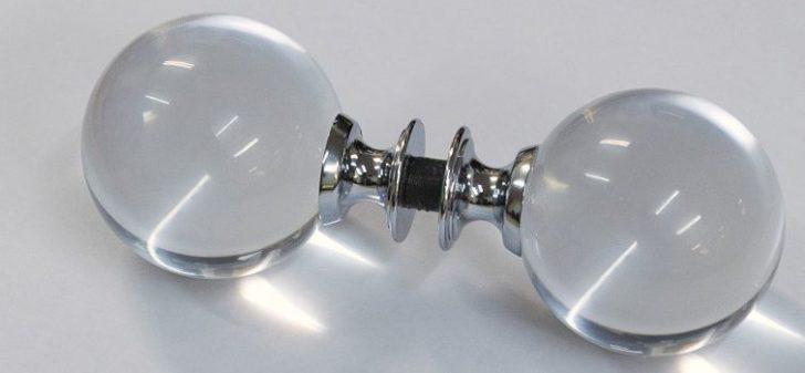Interior glass door knobs