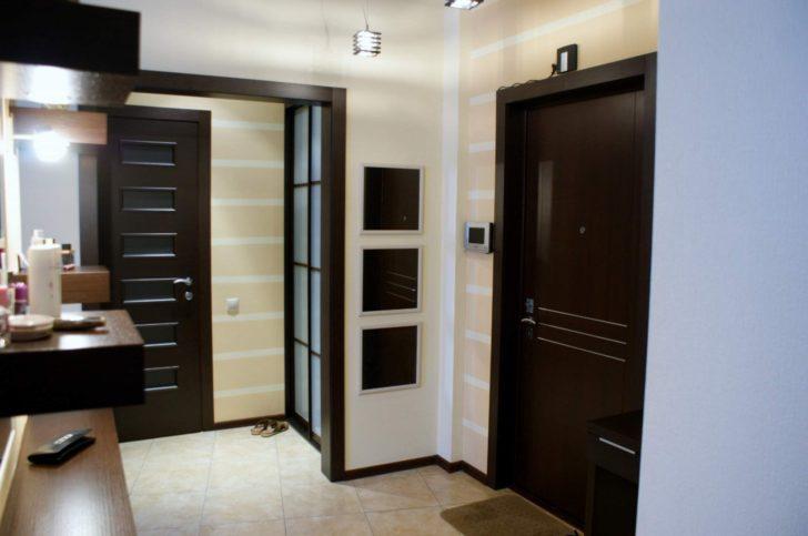 Interior with Dark Doors and Light Floor