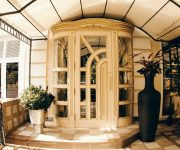 Luxurious entrance vintage doors