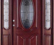 Luxury solid wood front door with glass