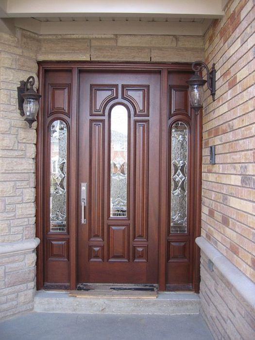 Solid wood exterior front doors home design for Solid hardwood front doors