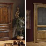 Doors made of natural oak