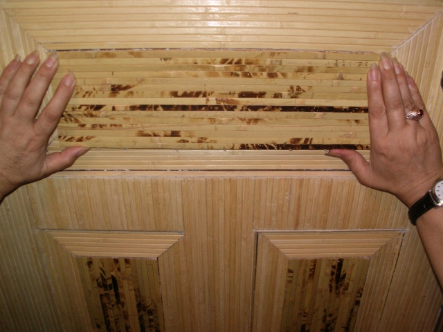 Pasting of doors with bamboo towels - How to decorate a door by your own forces
