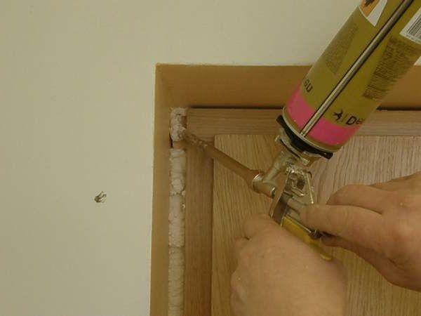 Polyurethane foam for installation of the door frame - What gap is needed between door, floor and frame