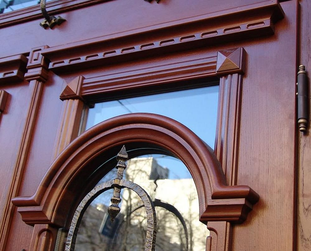 Solid oak front doors