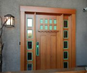 Solid wood external doors